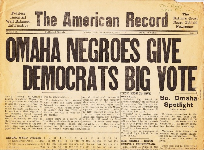 "American Record, ""The Nation's Great Negro Tabloid Newspaper"" (1945-1948)"
