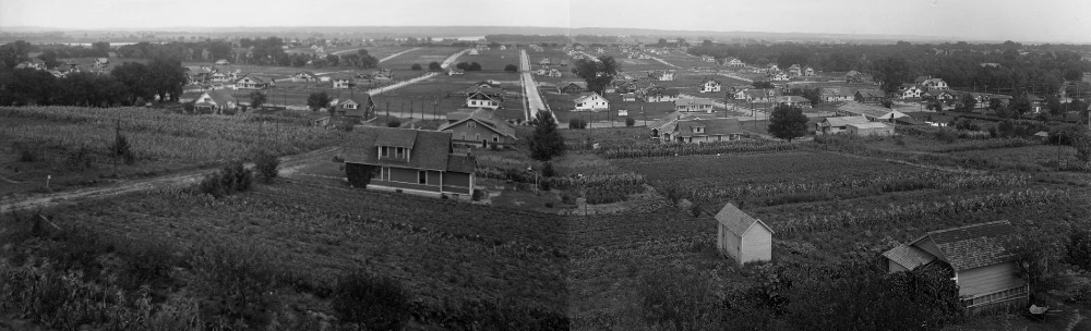This is the Minne Lusa Historic District at the beginning of its construction in the 1910s.