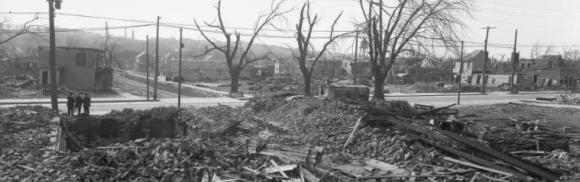 1913 Easter Sunday tornado demolished the Idlewild Pool Hall, North Omaha, Nebraska
