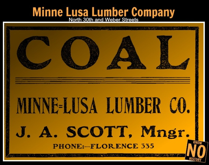 Minne Lusa Lumber Company, North 30th and Weber Streets, North Omaha, Nebraska
