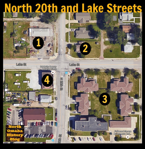 This is the intersection of N. 20th and Lake Streets in North Omaha, Nebraska.