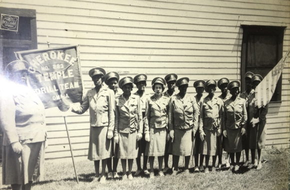 These are female Elks from the Black Elks club at 26th and Lake Streets in North Omaha.