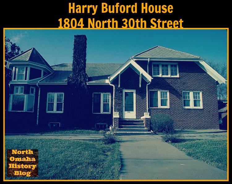 Harry Buford House, 1804 North 30th Street, North Omaha, Nebraska