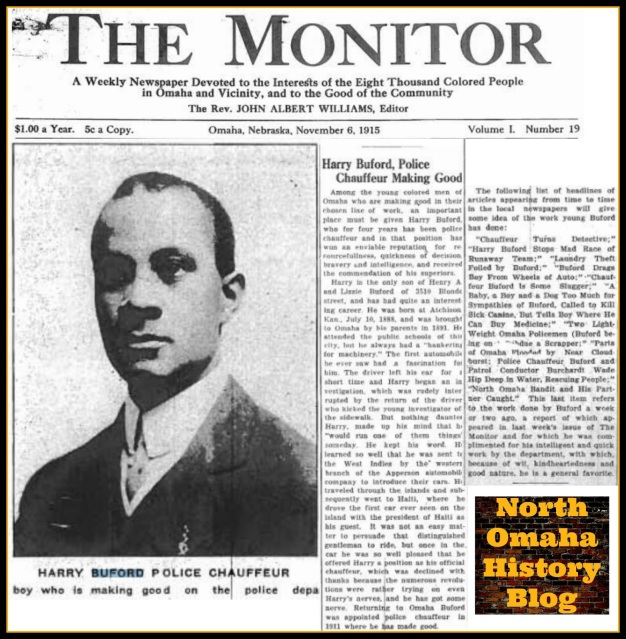 Harry Buford 1915 feature from The Monitor newspaper