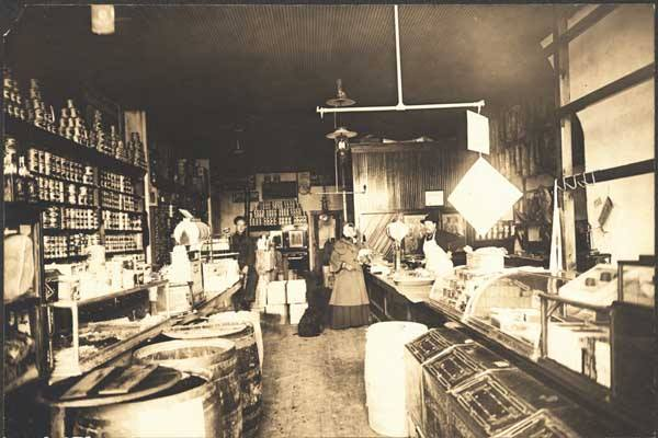 Larsens Store 27th and Lake North Omaha Nebraska circa 1890s