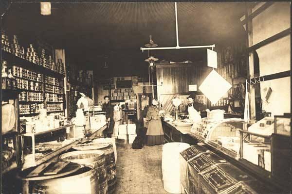 Larsens Store 27th and Lake North Omaha Nebraska circa 1890s