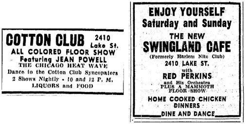 Cotton Club and Swingland Cafe, 2410 Lake Street, North Omaha, Nebraska