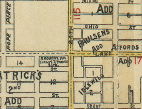 1890 map of 24th and Lake area