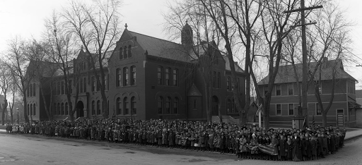 Built in 1888, the Lake School had kindergarten through 8th grade until it was closed in the late 1960s. It was on the southeast corner of the intersection. For more than 40 years, it was one of Omaha Public Schools' Black schools where African American students were sent. Located at N. 20th and Lake Streets, the old school was demolished in the 1960s and rebuilt. It was closed permanently in the late 1970s.