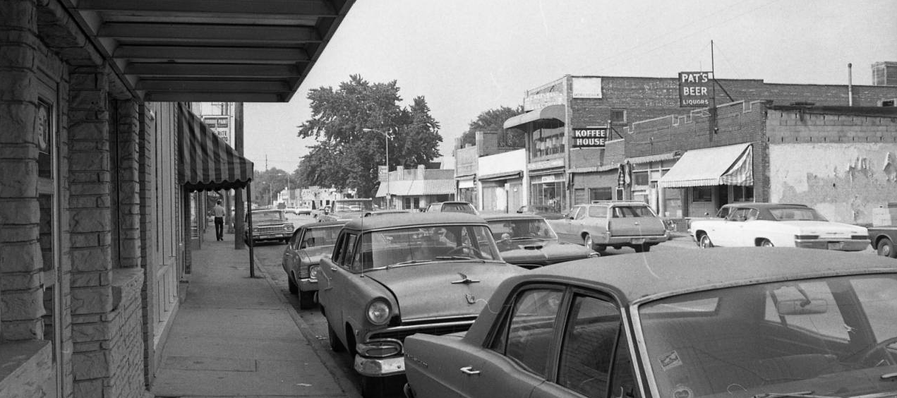 North 30th and Ames Avenue in North Omaha, Nebraska, in 1971.