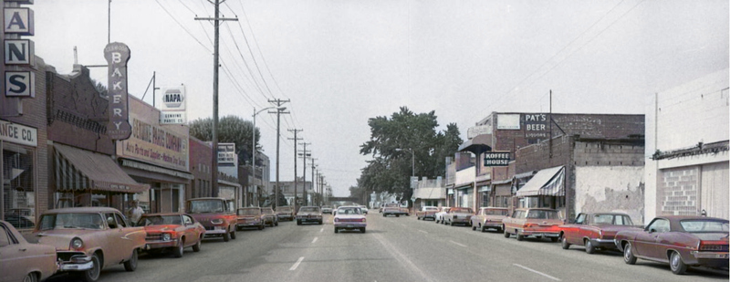 1971 pic of North 30th and Ames Avenue, North Omaha, Nebraska