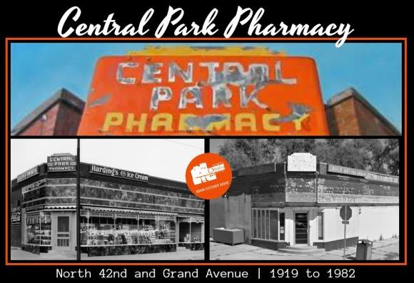 Central Park Pharmacy, N. 42nd and Grand Ave., North Omaha, Nebraska