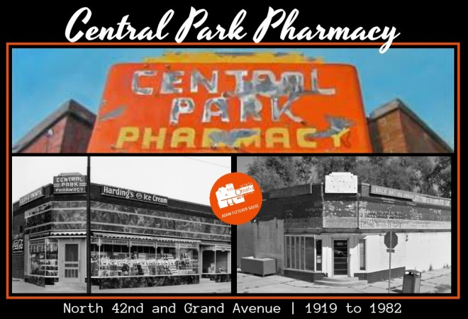 Central Park Pharmacy, N. 42nd and Grand Ave., North Omaha, Nebraska