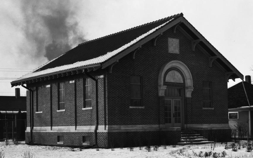 This is the Nebraska Public Power Company building at North 30th and Larimore, North Omaha, Nebraska
