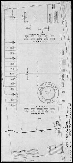1890s Fort Omaha map