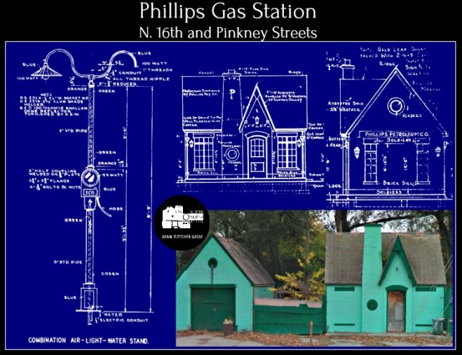 Phillips Gas Station 1929 16th and Pinkney Street North Omaha Nebraska
