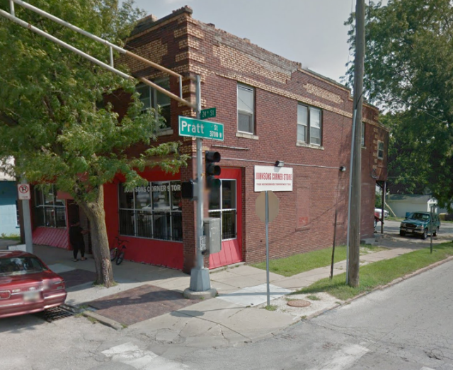 This is 3701 N 24th, built in 1915 at the corner of 24th and Pratt Streets.