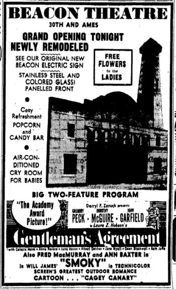 Beacon Theatre, 30th and Ames, North Omaha, Nebraska