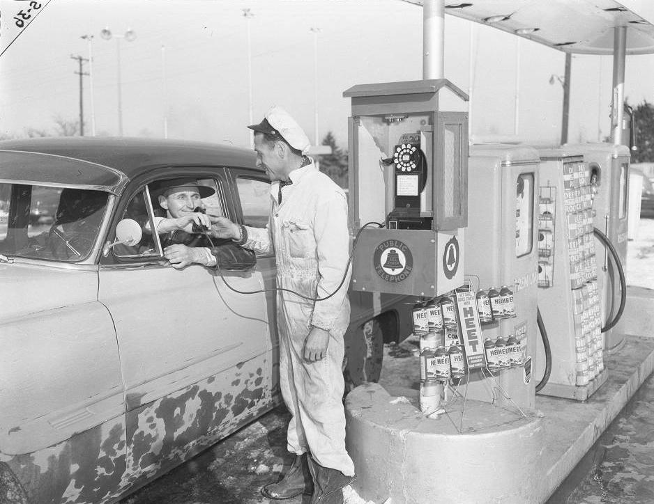 1953 Gas Station Attendant Omaha Nebraska