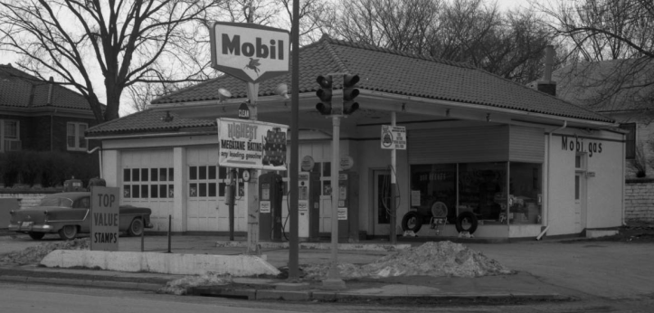 1962 Mobil Gas Station, 7600 North 30th Street, North Omaha, Nebraska