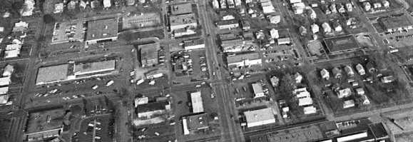 A 1988 aerial pic of 30th and Ames, North Omaha, Nebraska