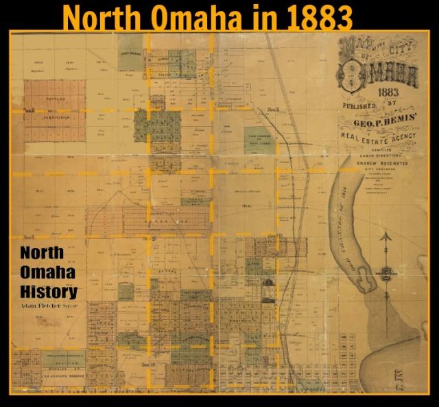 1883 North Omaha, Nebraska map