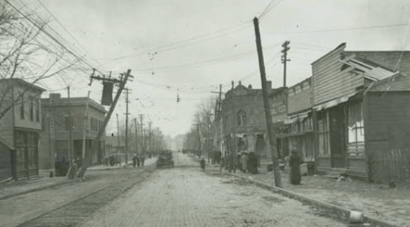 N. 20th and Lake on March 24, 1913 after the tornado.