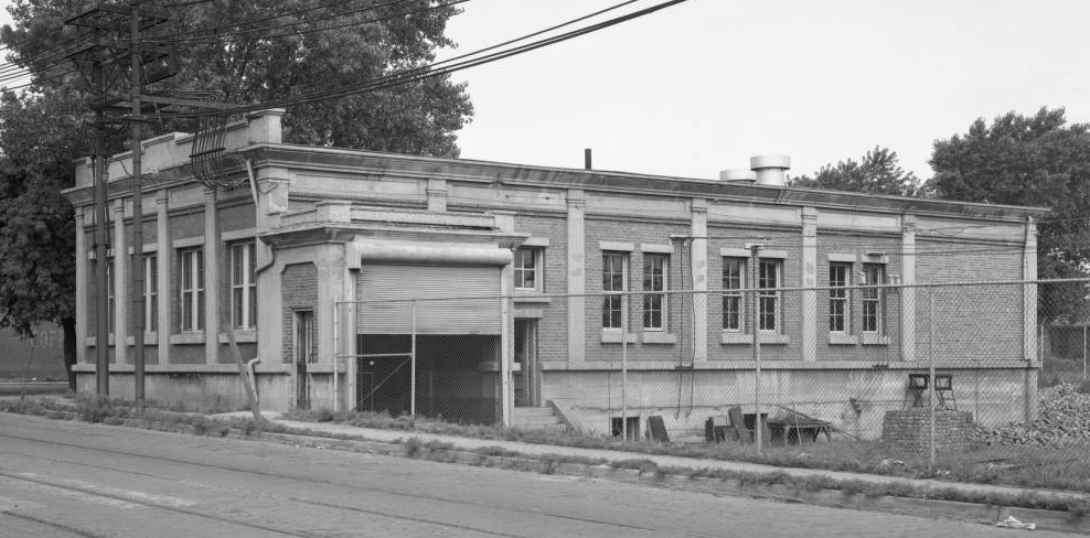 This is the this shows the Lake Street Electrical Sub-Station on the southwest corner of the streetcar maintenance shop at N. 27th and Lake Streets.