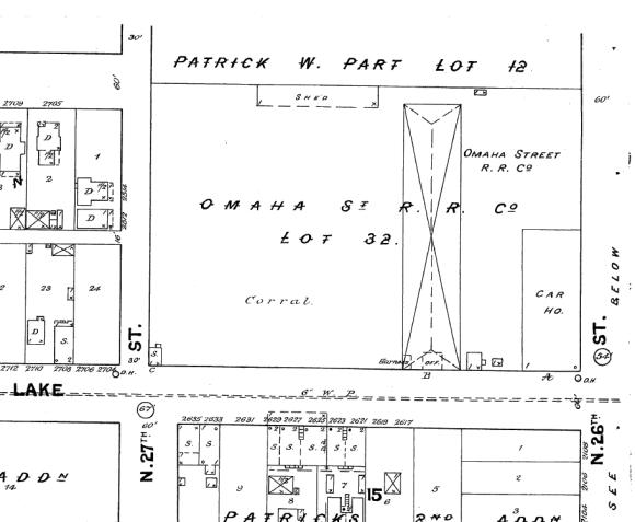 The Omaha Street Rail Road lot at 26th and Lake