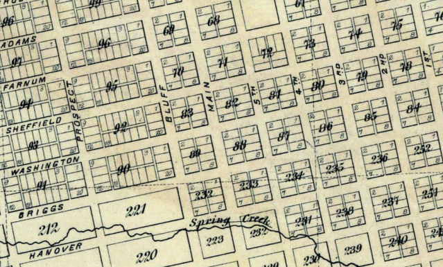 Streets in the City of Florence, Nebraska in 1885