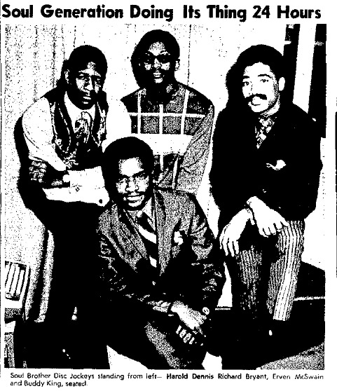 KOWH disc jockeys in 1970