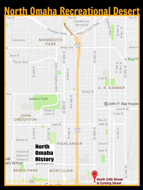 Starting in 1970, this area of North Omaha, Nebraska was recognized as a recreation desert with no bowling alleys, indoor swimming pools, roller rinks or other safe and fun places for children and youth to hangout.