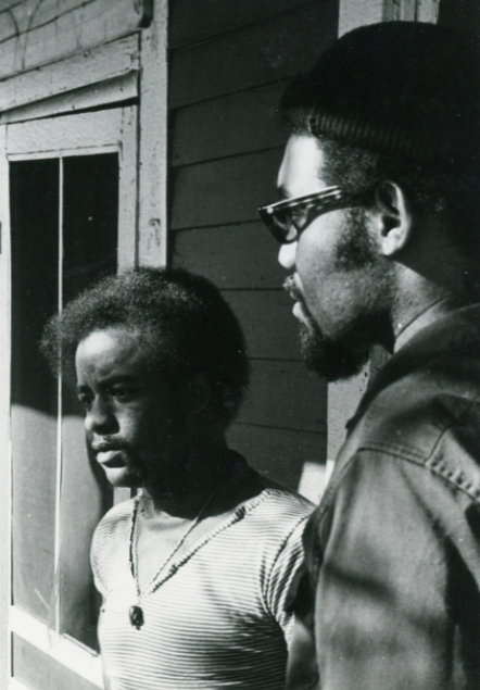 Ed Poindexter and David Rice in 1970, North Omaha, Nebraska