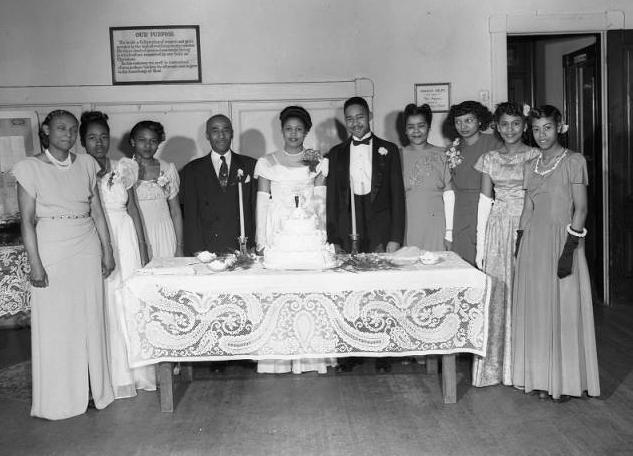 1948 wedding of Von and Pinky Trimble.