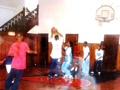 Basketball at Pearl Church, 2319 Ogden Ave, North Omaha, Nebraska