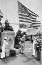 Military cadets at the dedication of the J. J. Pershing Memorial on November 11, 1940 in North Omaha.