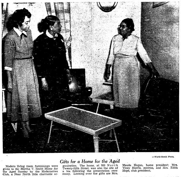 Martha T. Smith Home for the Aged, 933 N. 25th, North Omaha, Nebraska