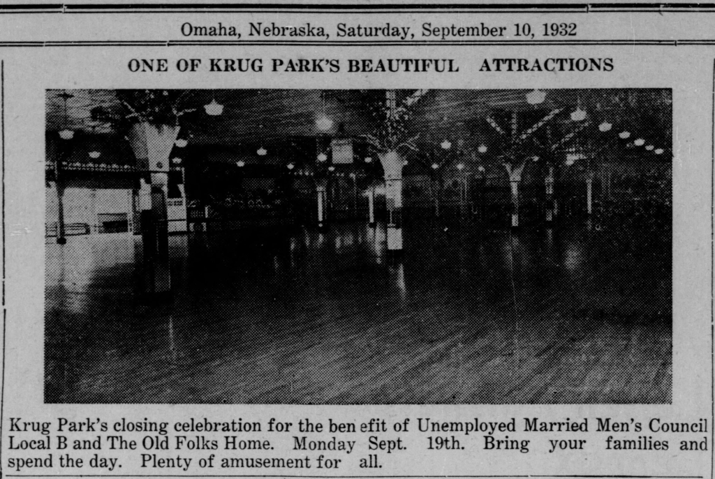 This was a 1922 story promoting a fundraiser for the Colored Old Folks Home held at Krug Park.