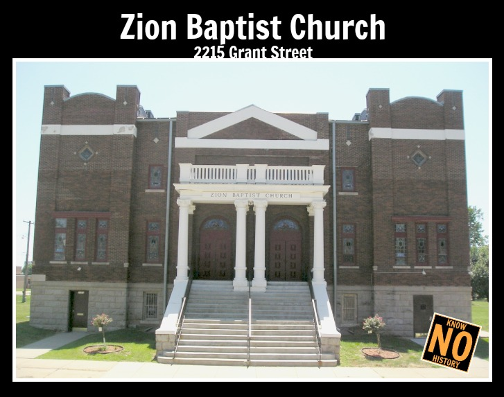 Zion Baptist Church, 2215 Grant Street, North Omaha, Nebraska