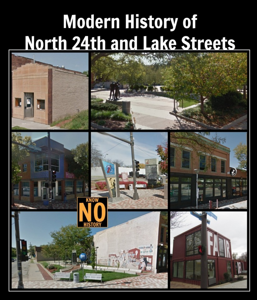 Modern History of North 24th and Lake Streets, North Omaha, Nebraska