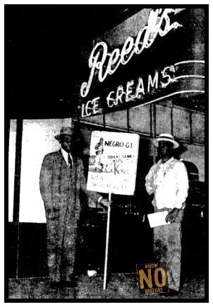 Picketing at Reed's Ice Cream, 3106 North 24th Street, North Omaha, Nebraska