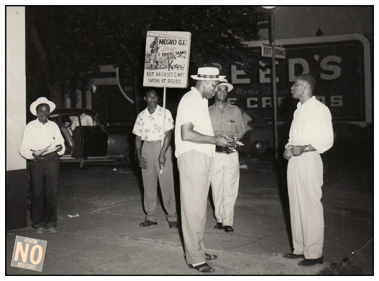 Picketing at Reed's Ice Cream, North Omaha, Nebraska