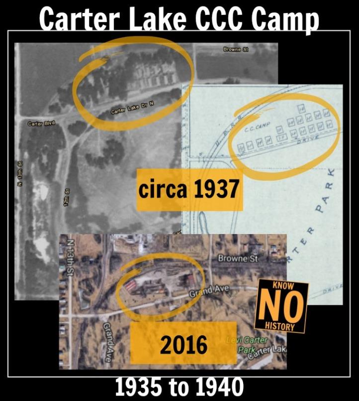 Carter Lake CCC Camp, North Omaha, Nebraska