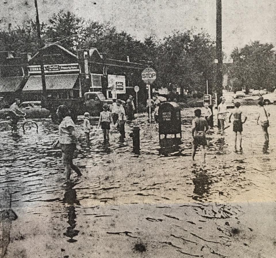 1979 Miller Park neighborhood flood, North Omaha, Nebraska