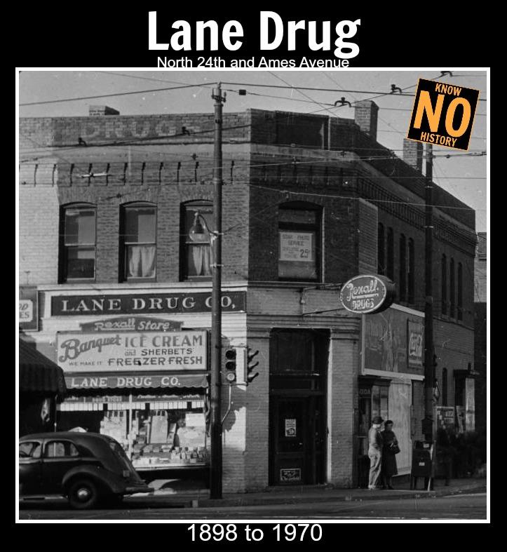 Lane Drug, 24th and Ames, North Omaha, Nebraska