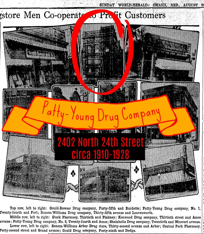 Patty-Young Drug Company 2402 N 24th St North Omaha Nebraska