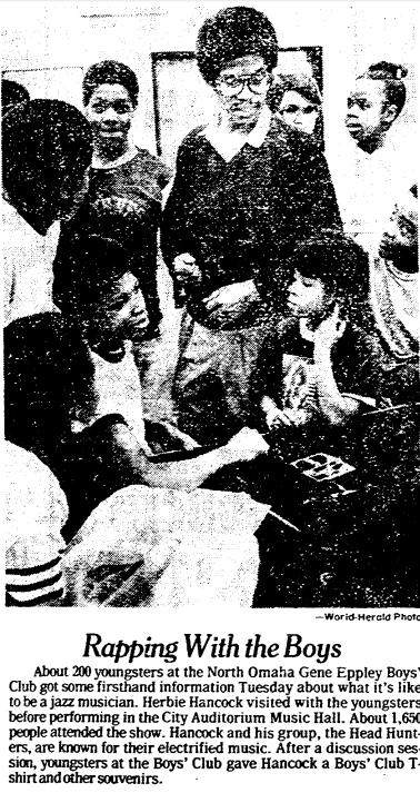 Herbie Hancock at North Omaha Boys' Club, North Omaha, Nebraska in 1979.