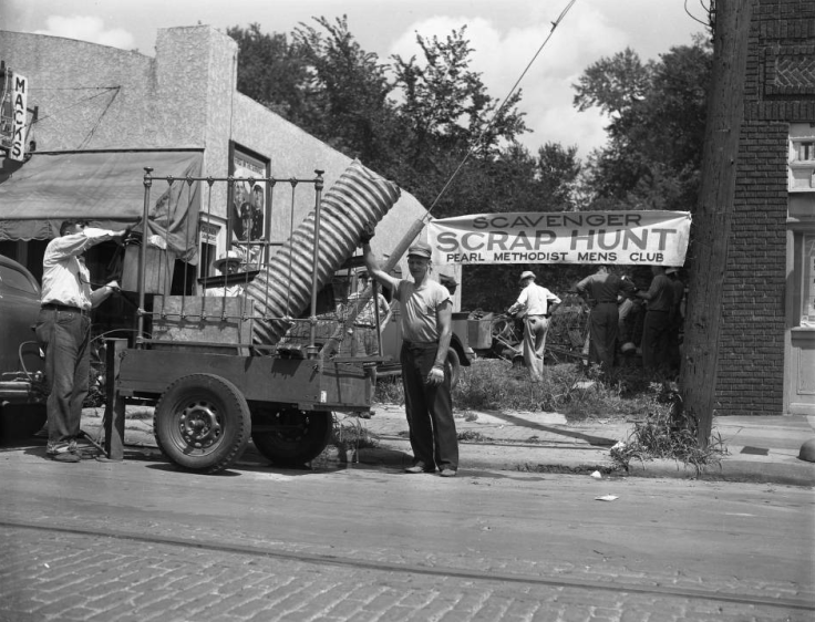 Pearl Church Scrap Collecting North Omaha Nebraska World War II