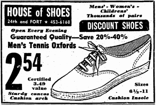 The House of Shoes, 5229 North 24th Street, North Omaha, Nebraska