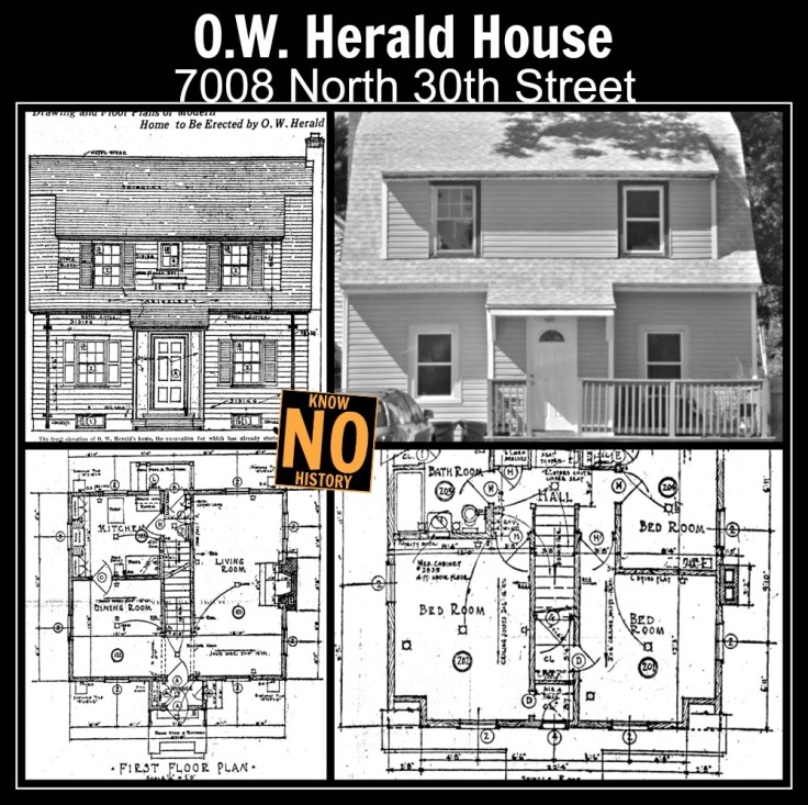 O.W. Herald House, 7008 N. 30th St., North Omaha, Nebraska